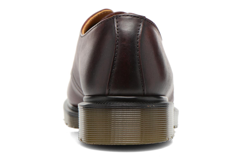 Snörade skor Dr. Martens 1461 w Vinröd Bild från höger sidan