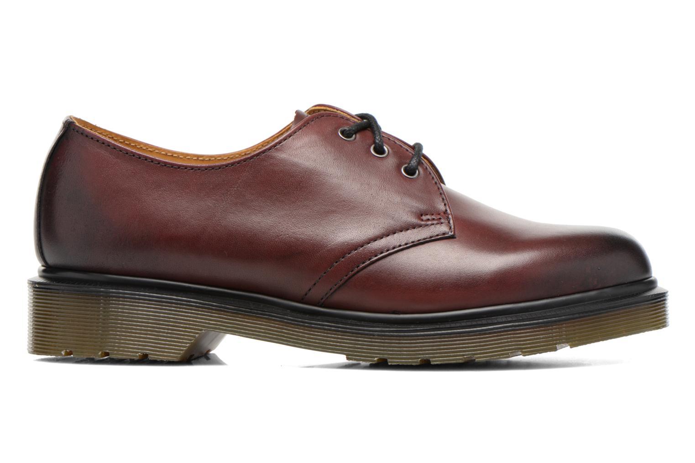 Snörade skor Dr. Martens 1461 w Vinröd bild från baksidan