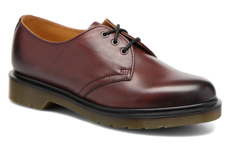 Snörade skor Dr. Martens 1461 w Vinröd detaljerad bild på paret
