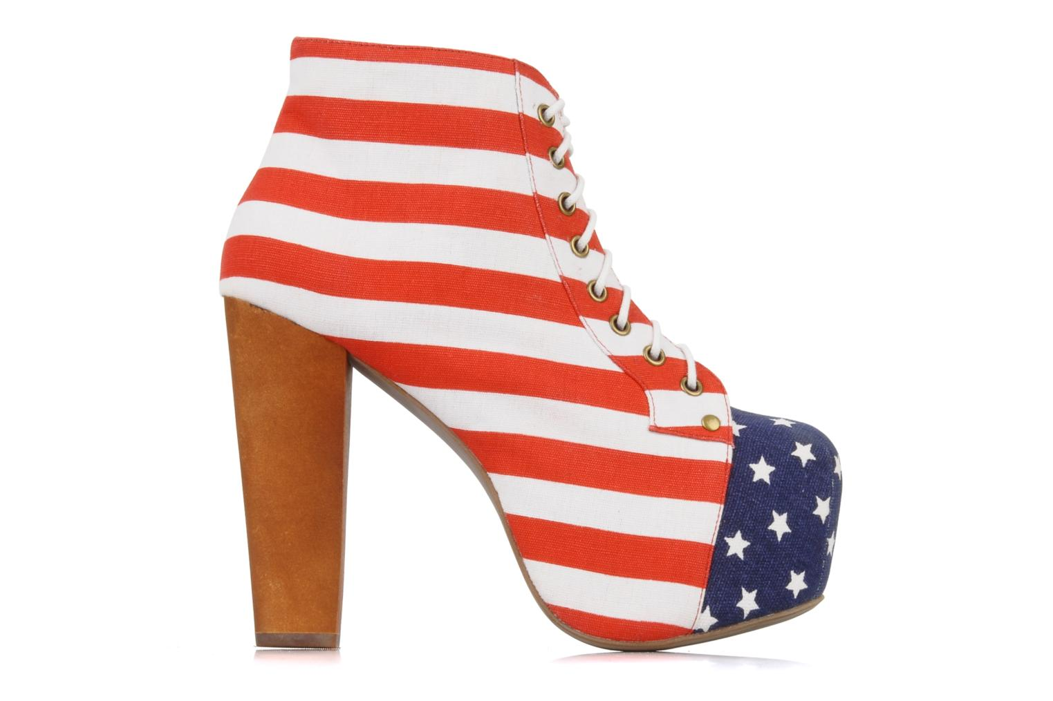 Ankle boots Jeffrey Campbell Lita flag Multicolor back view
