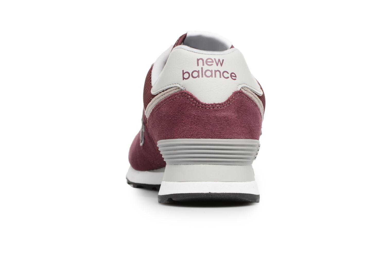Baskets New Balance Ml574 Orange vue droite