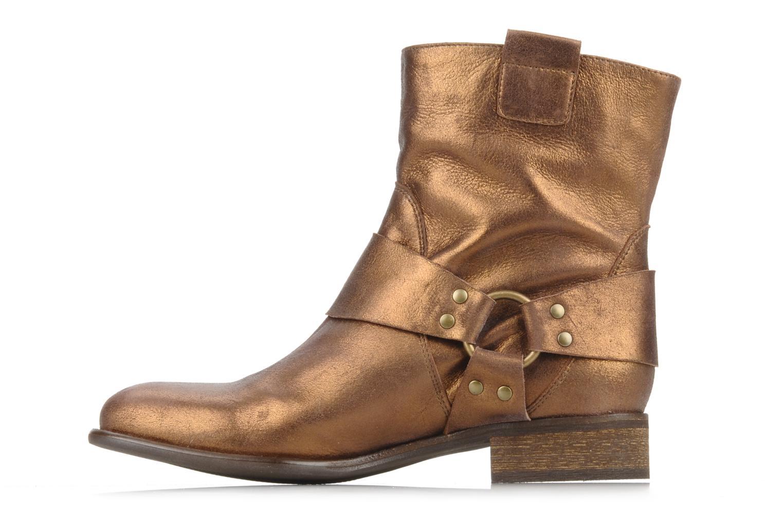 Bottines et boots Georgia Rose Dasine Or et bronze vue face