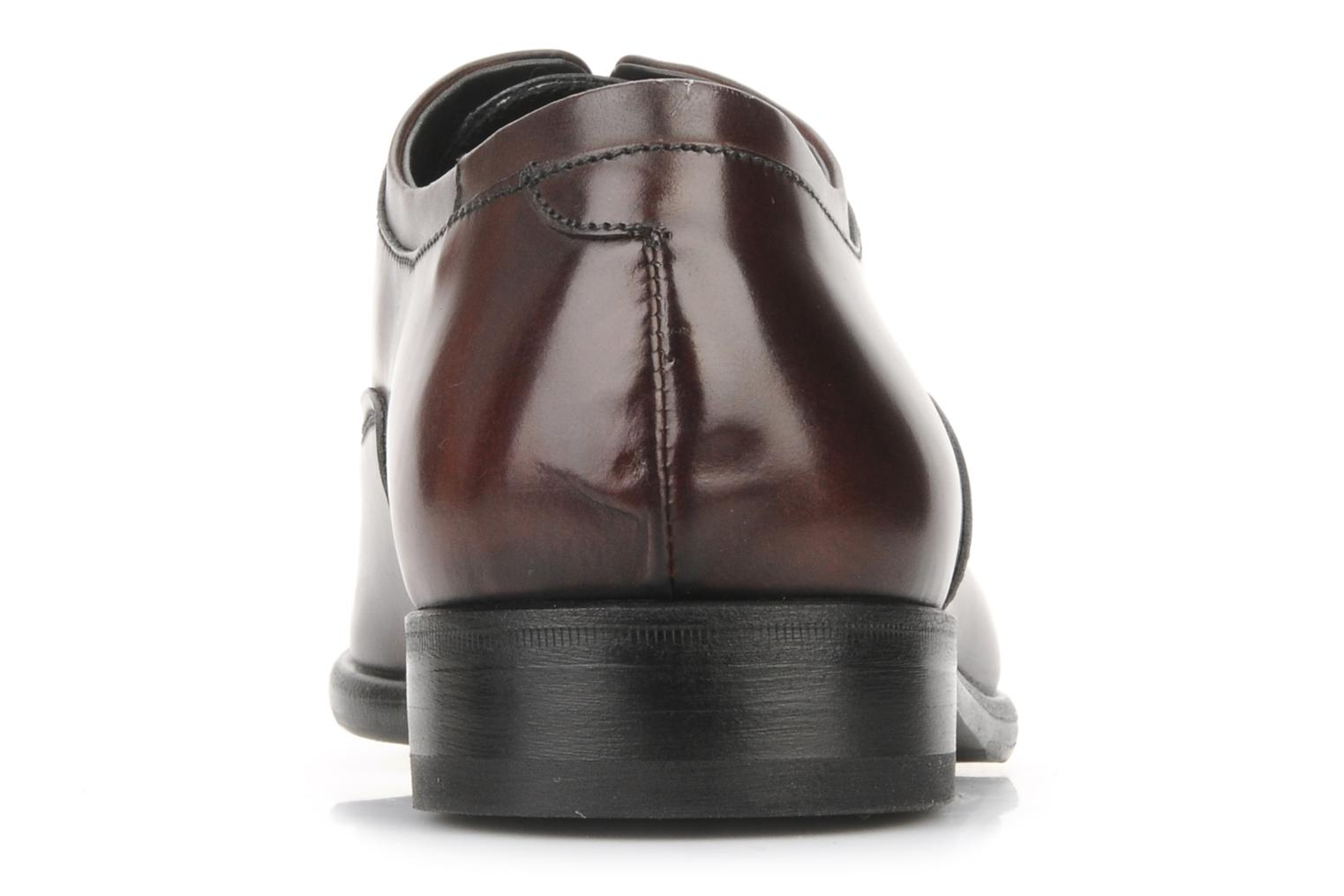 Lace-up shoes Doucal's Pierrot Burgundy view from the right