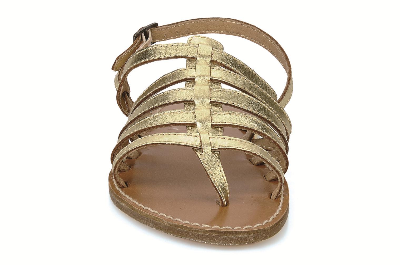 Sandals Le temps des cerises Sparti Bronze and Gold model view