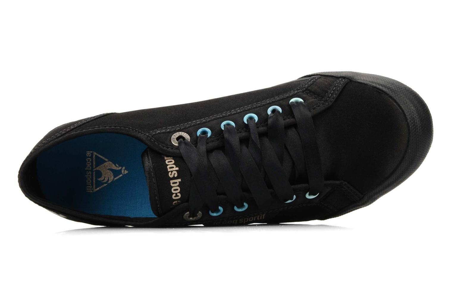 Sneakers Le Coq Sportif Deauville plus satin shaded W Nero immagine sinistra