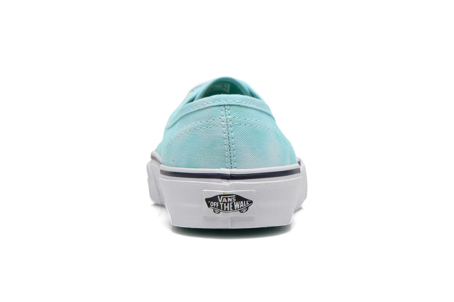 Trainers Vans Authentic w Green view from the right
