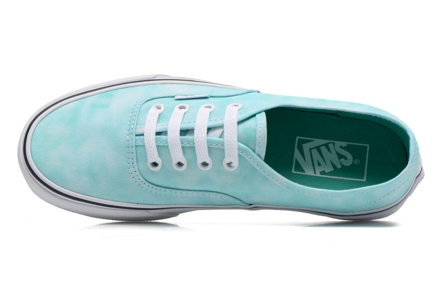 Trainers Vans Authentic w Green view from the left