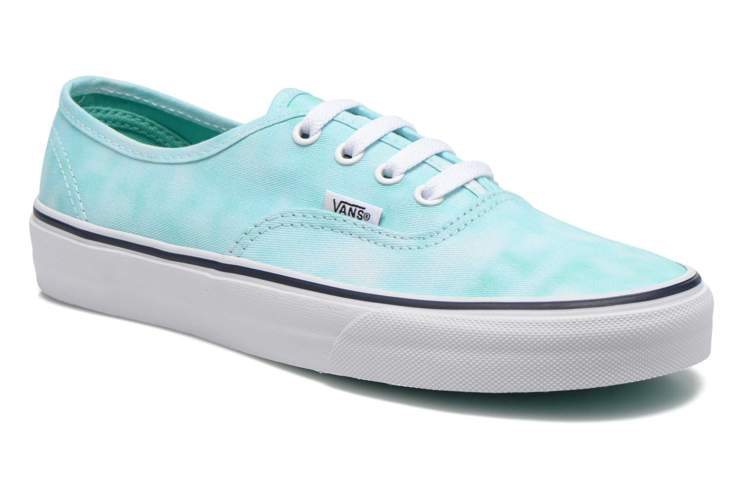 Trainers Vans Authentic w Green detailed view/ Pair view