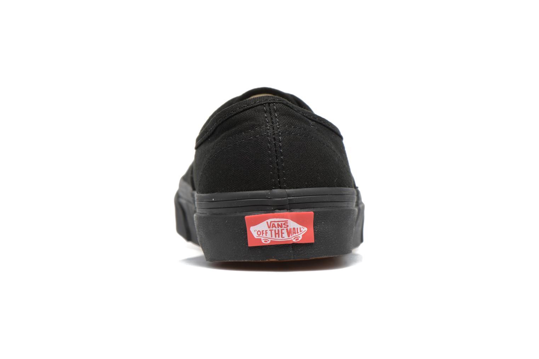 Baskets Vans Authentic w Noir vue droite
