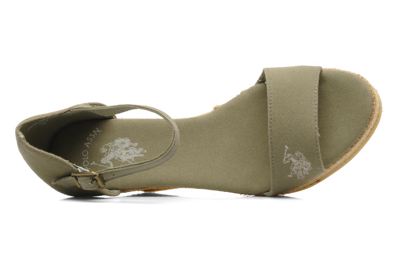 Sandales et nu-pieds U.S Polo Assn. Becky Vert vue gauche