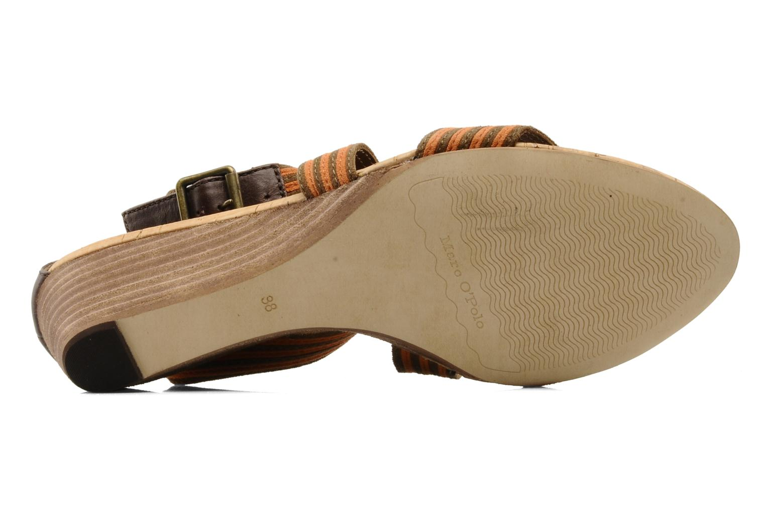 Sandals Marc O'Polo Kella Brown view from above