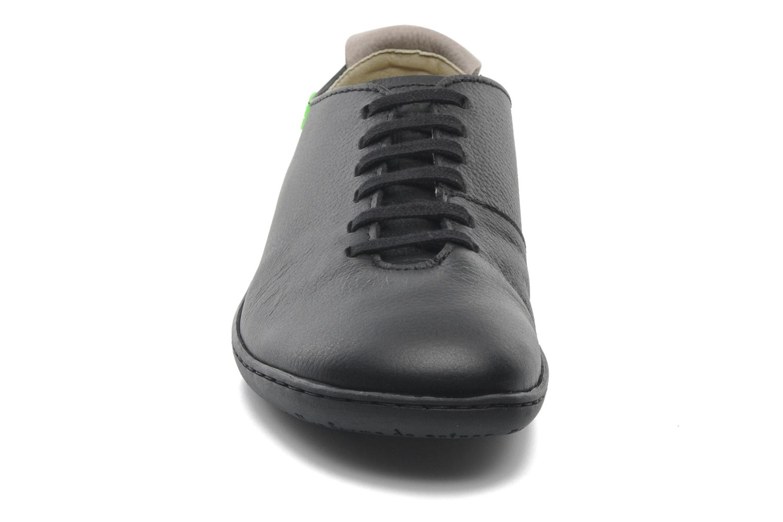 El Viajero N296 W Black-Black pull grain