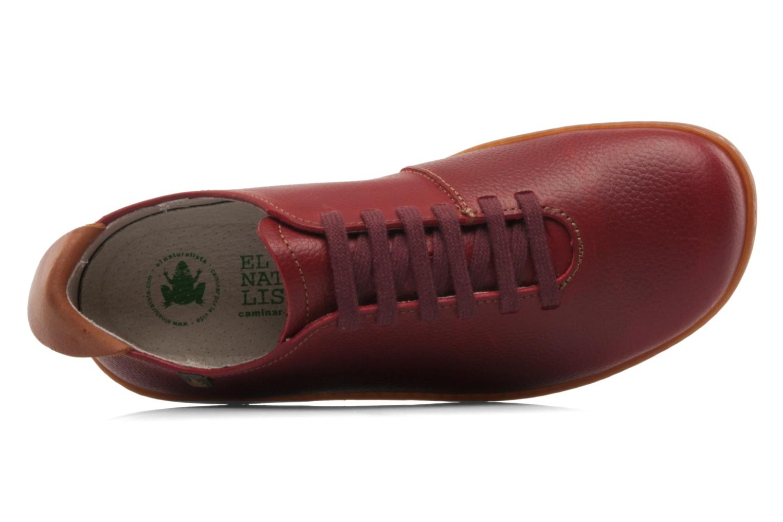 Lace-up shoes El Naturalista El Viajero N296 W Burgundy view from the left