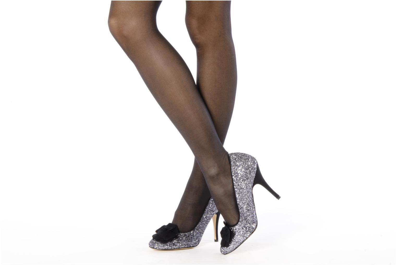 High heels Beyond Skin SWEETIE Silver view from underneath / model view
