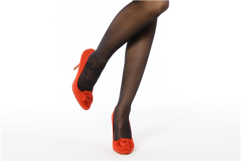 High heels Beyond Skin SWEETIE Red view from underneath / model view
