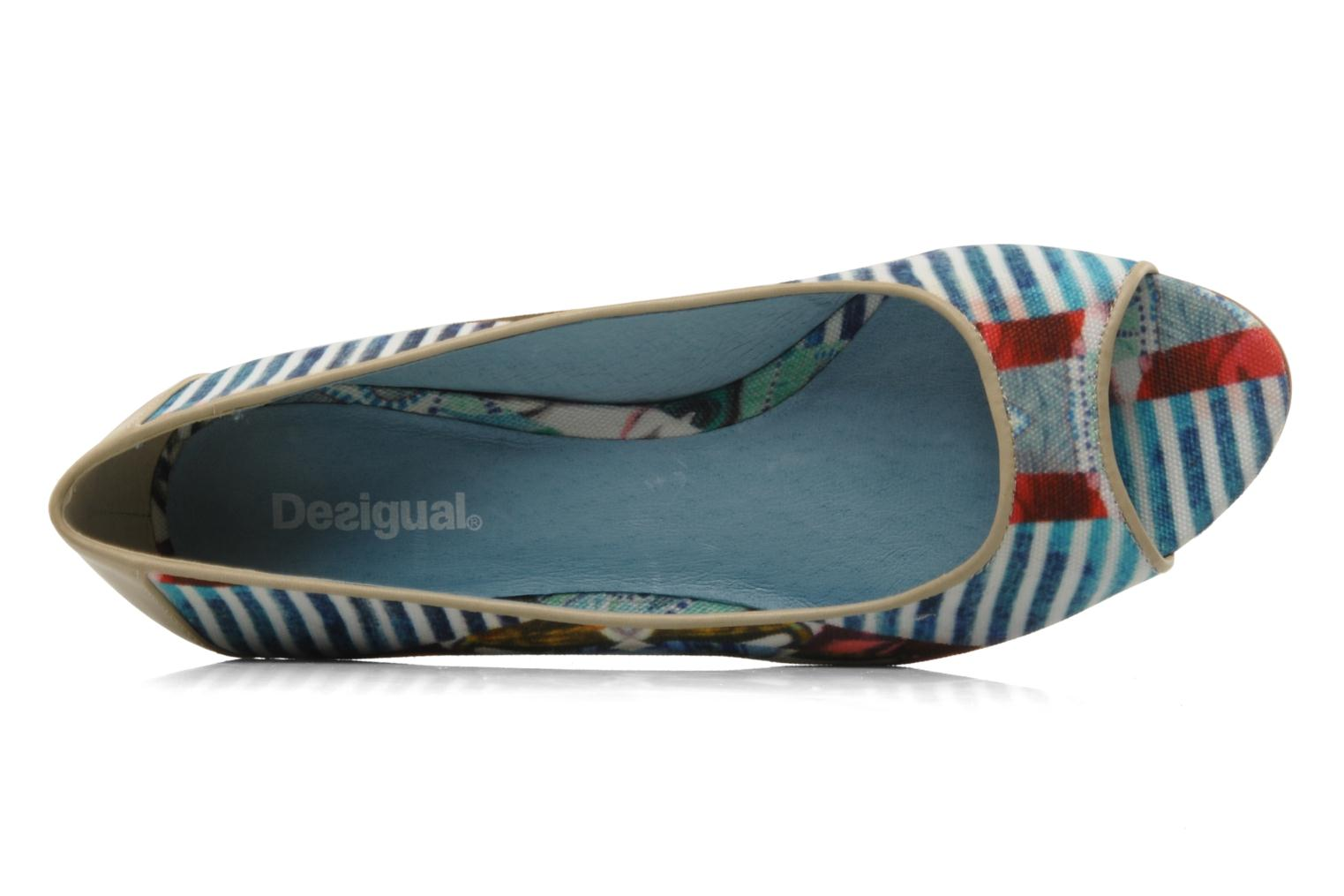 Ballet pumps Desigual Kailani Blue view from the left