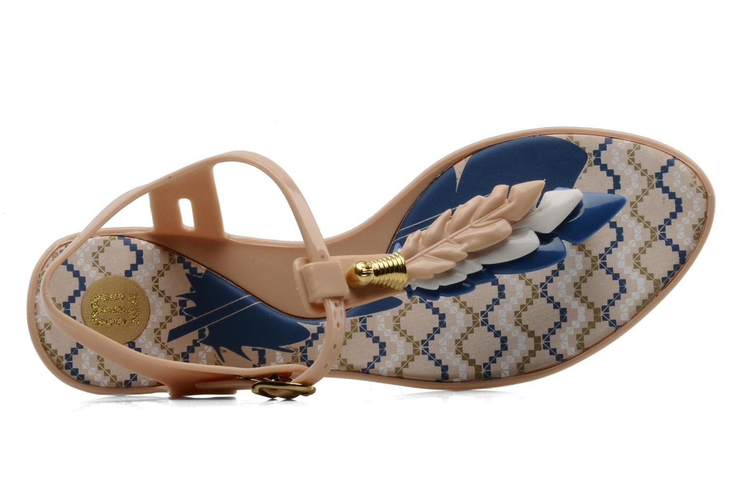 Sandals Melissa Melissa Lua III Sp Ad Beige view from the left