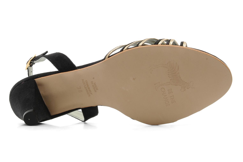 Sandales et nu-pieds Beyond Skin Jenny Noir vue haut