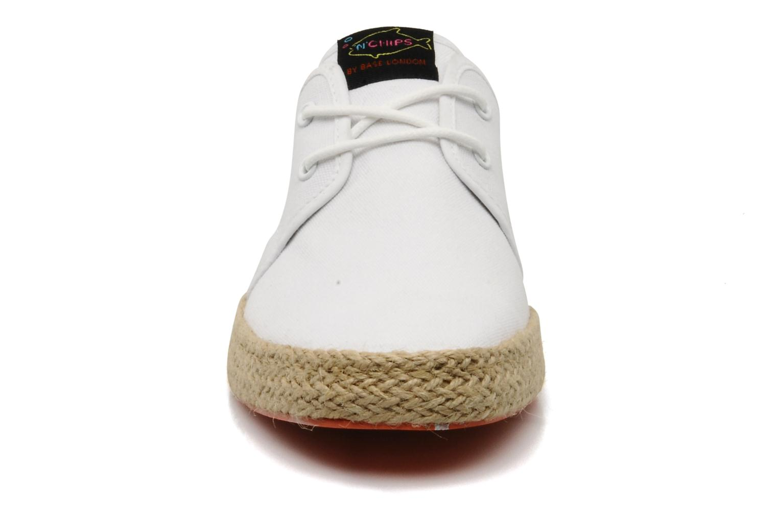 Sneakers Fish 'N' Chips Spam Bianco modello indossato