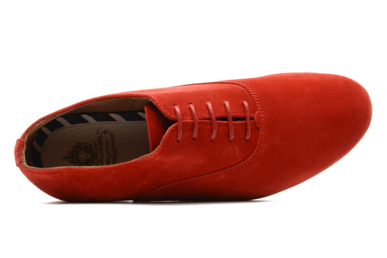 Scarpe con lacci Base London Sax Rosso immagine sinistra