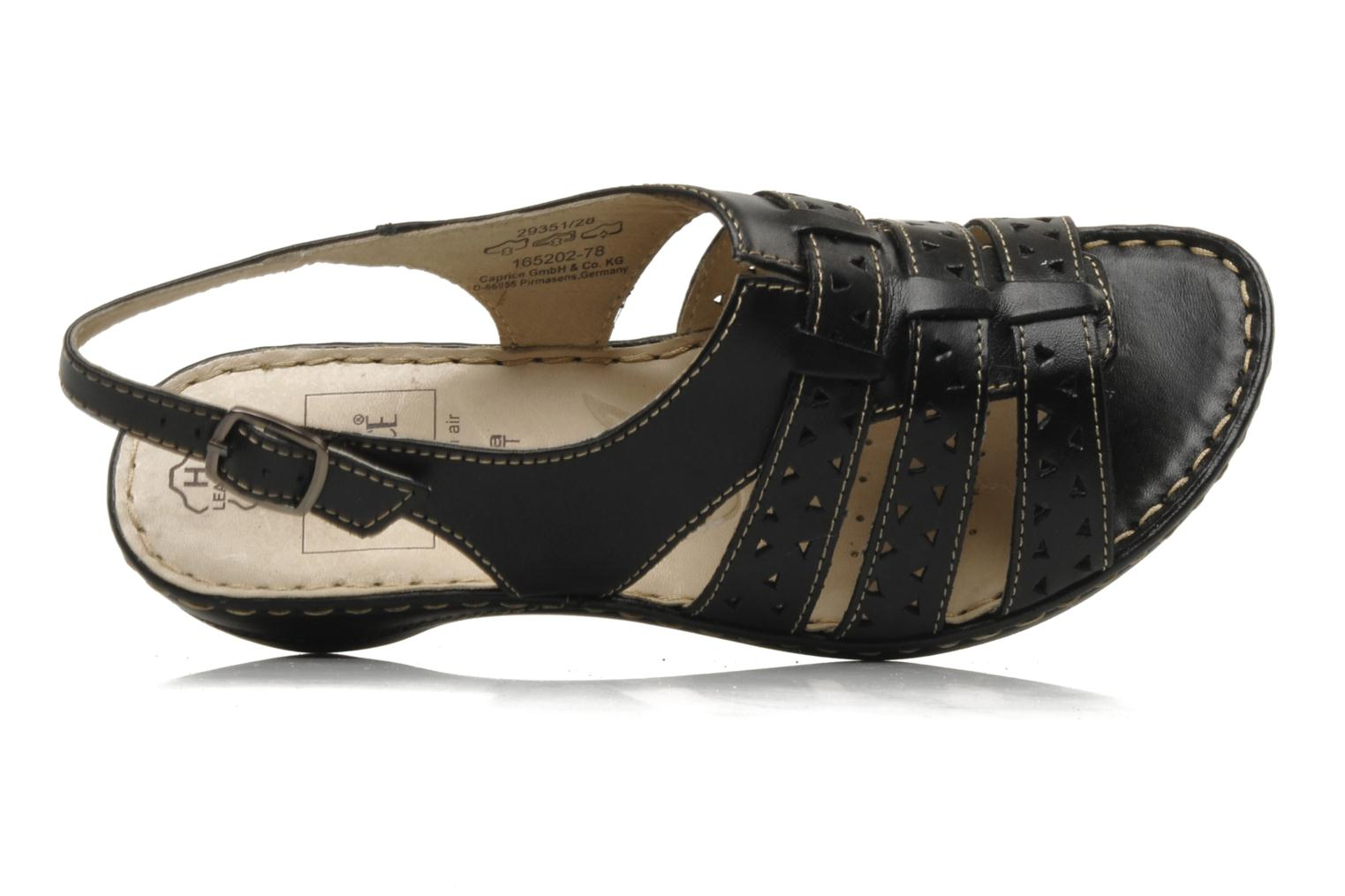 Sandals Caprice Vegati Black view from the left