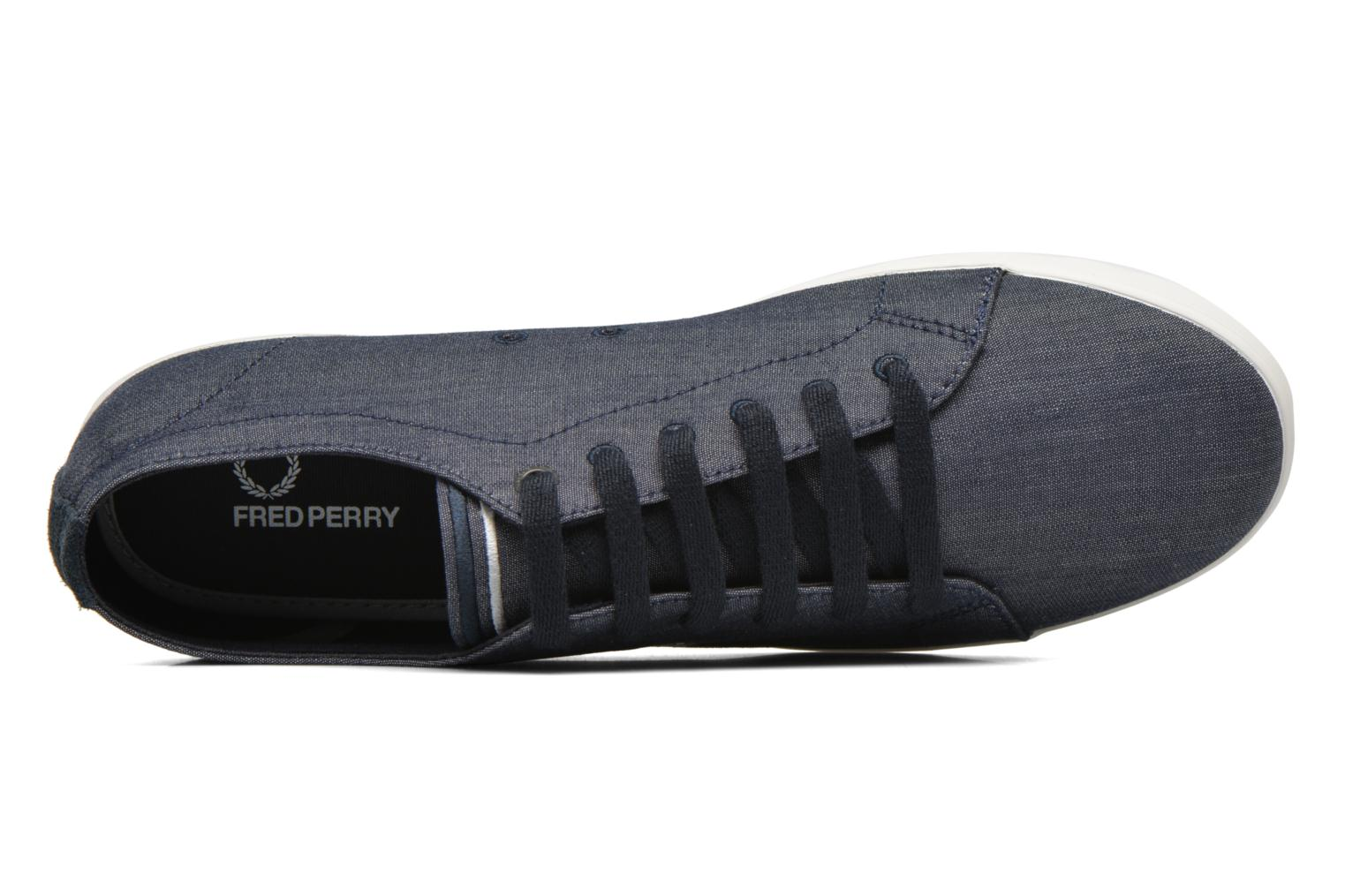 Sneaker Fred Perry Kingston Chambray blau ansicht von links