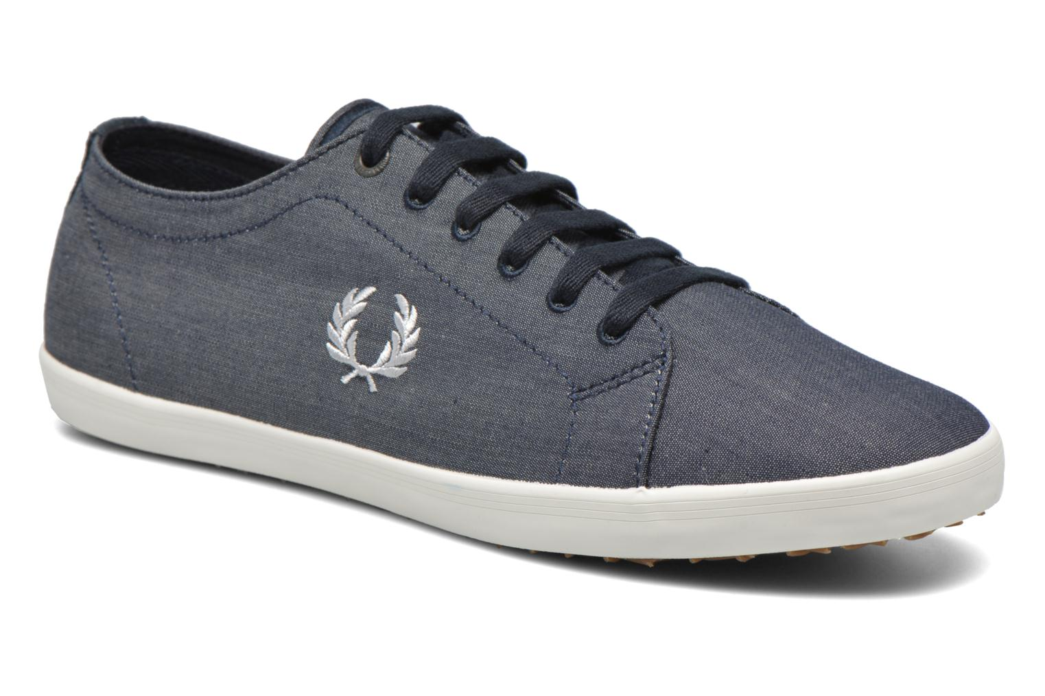 Baskets Fred Perry Kingston Chambray Bleu vue détail/paire