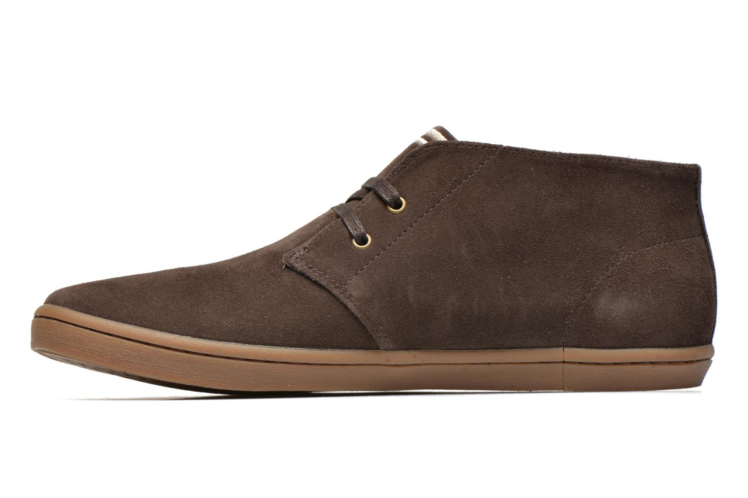 Baskets Fred Perry Byron Mid Suede Marron vue face