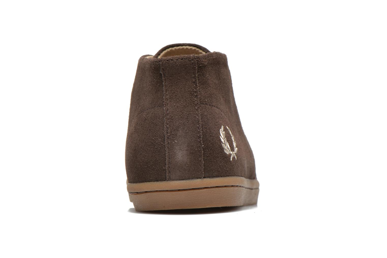 Baskets Fred Perry Byron Mid Suede Marron vue droite