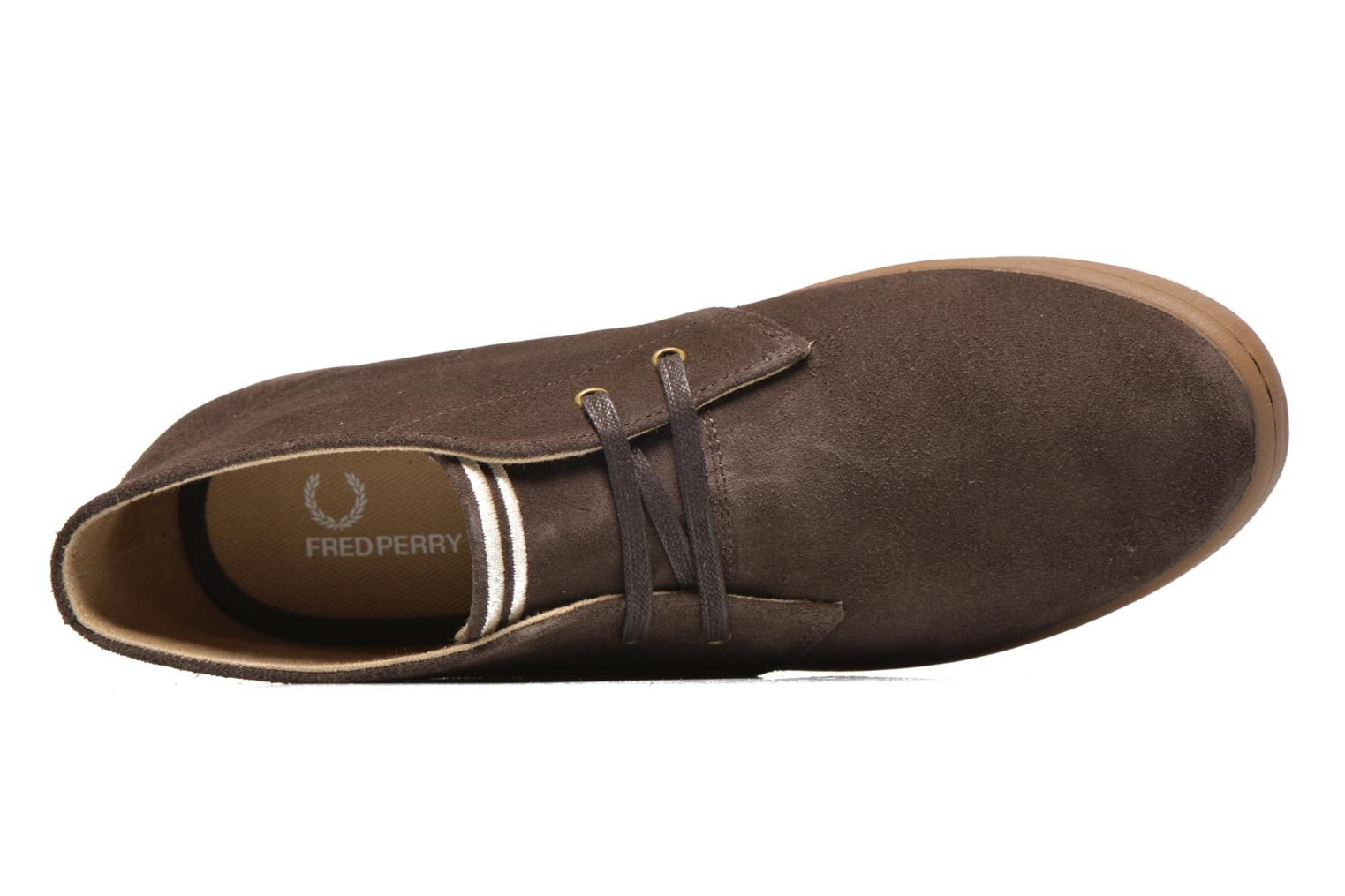 Baskets Fred Perry Byron Mid Suede Marron vue gauche