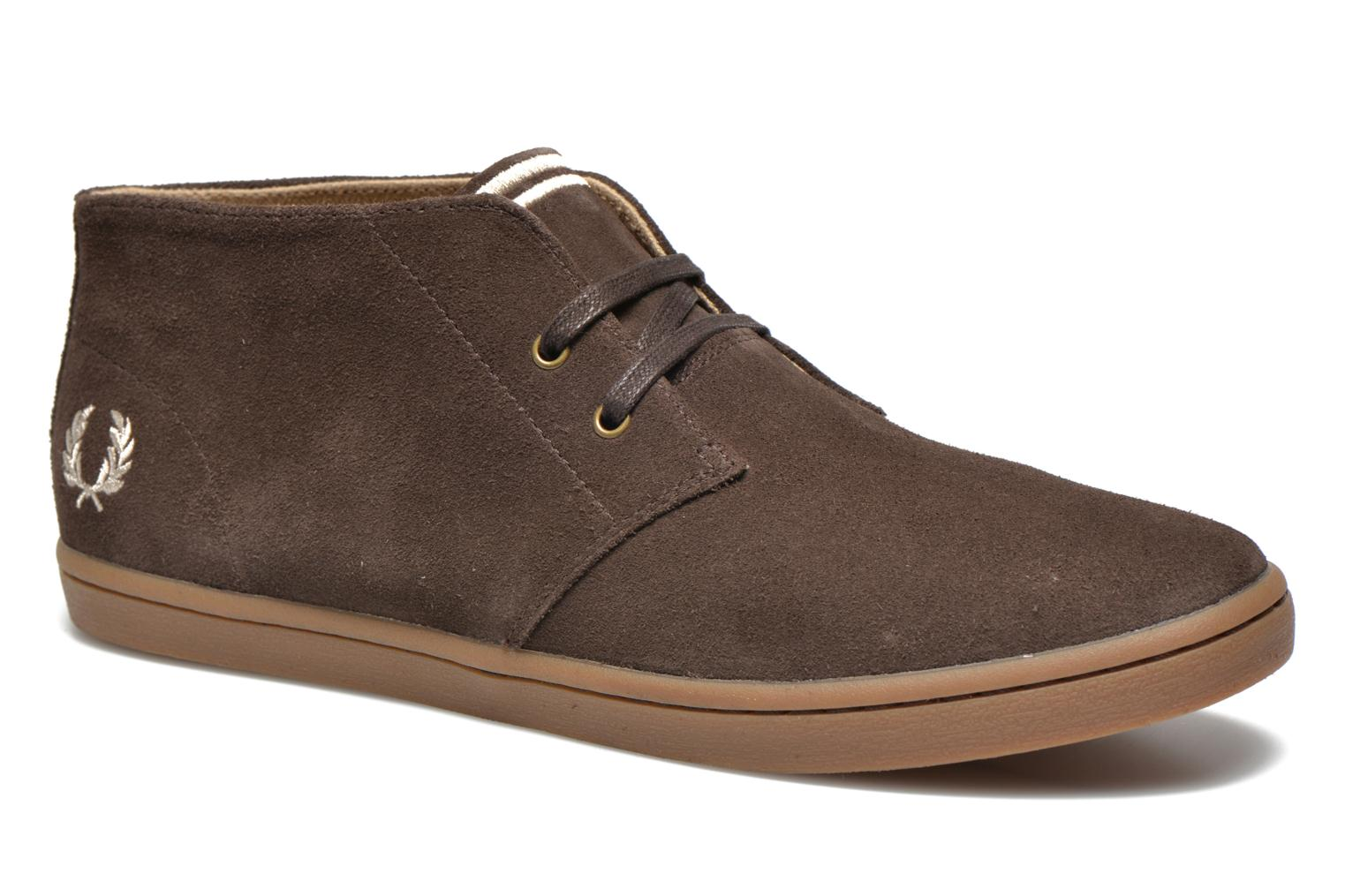 Baskets Fred Perry Byron Mid Suede Marron vue détail/paire