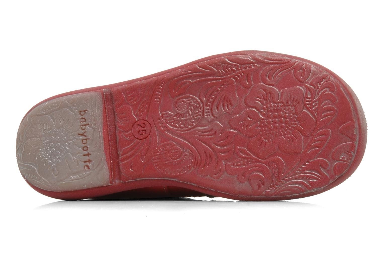 Summer boots Babybotte Sibel Red view from above