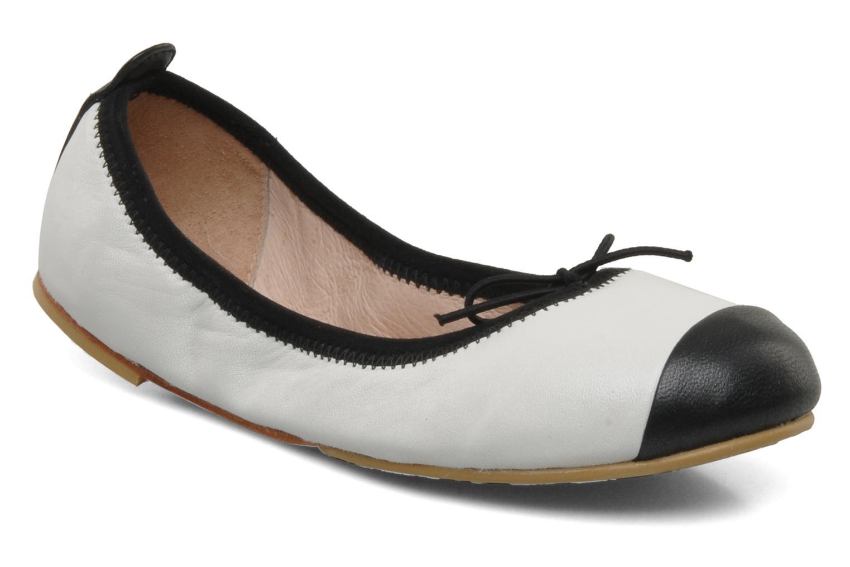 Ballerinaer Bloch Girls Classic Hvid detaljeret billede af skoene