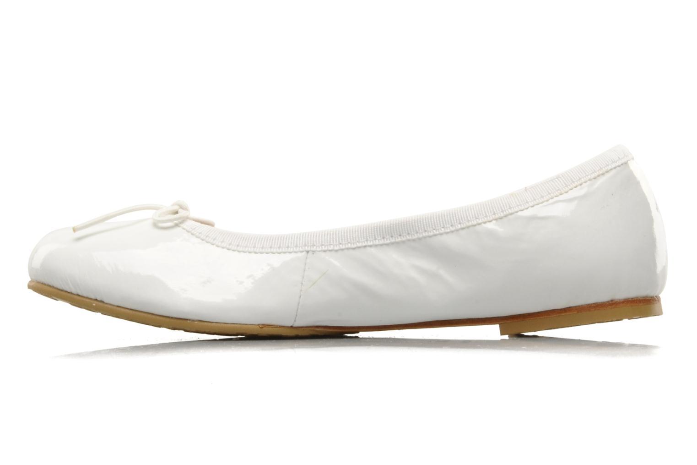 Ballerinas Bloch Girls Chacha weiß ansicht von vorne
