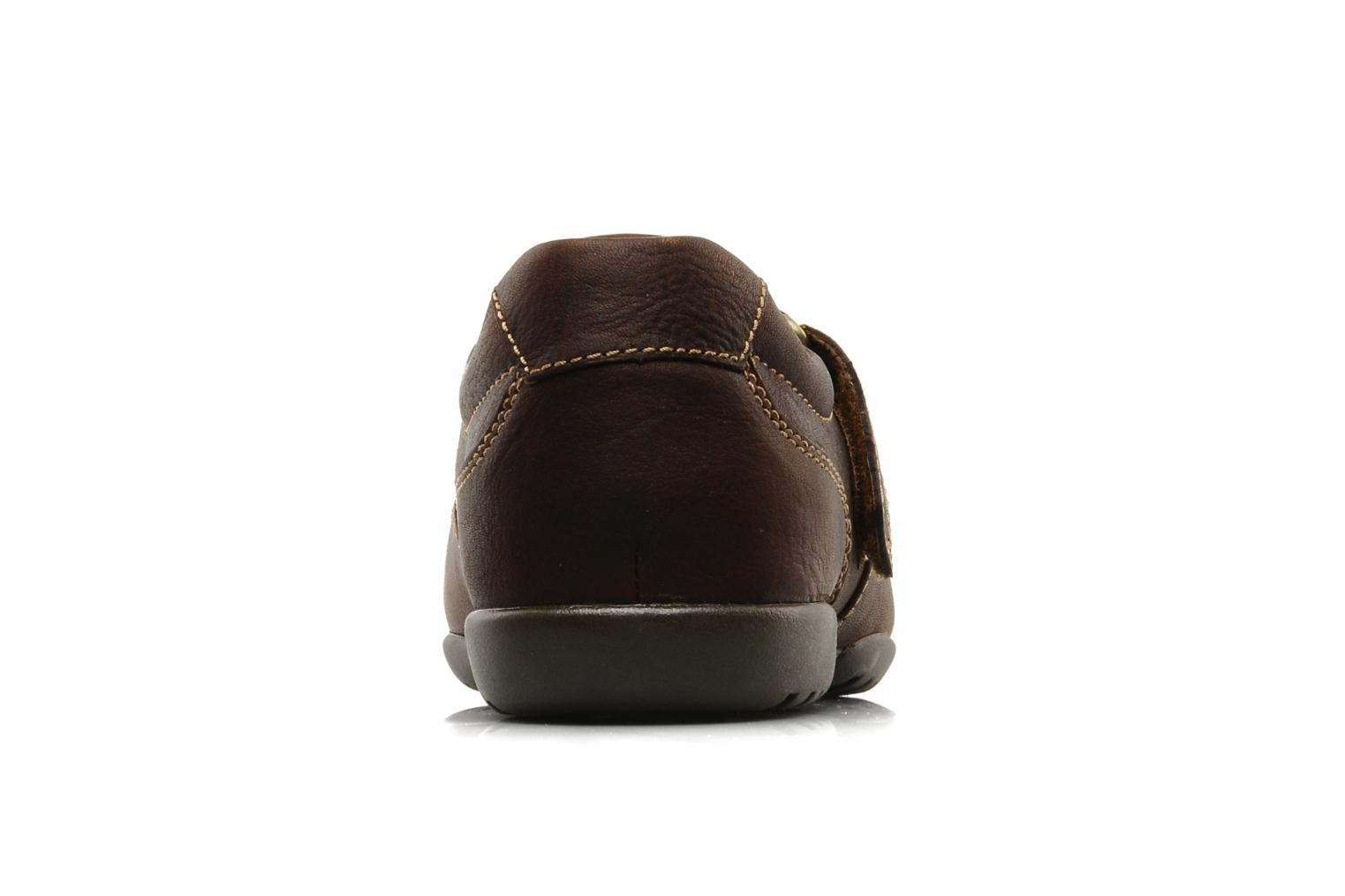 Sandals Clarks Recline Open Brown view from the right