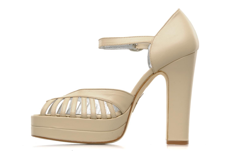 High heels Terry de Havilland Charlie Beige front view