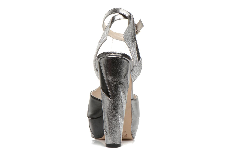Sandales et nu-pieds Terry de Havilland Zia Gris vue droite