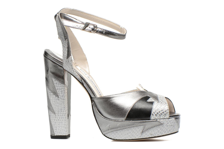 Sandales et nu-pieds Terry de Havilland Zia Gris vue derrière