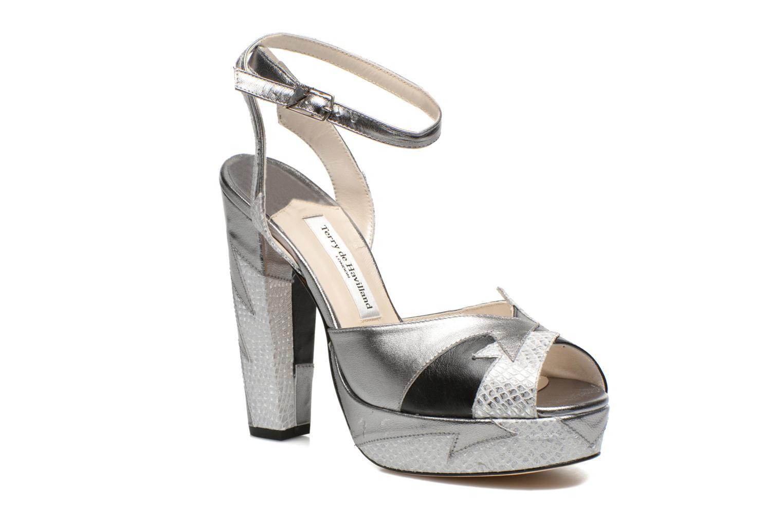 Sandales et nu-pieds Terry de Havilland Zia Gris vue détail/paire