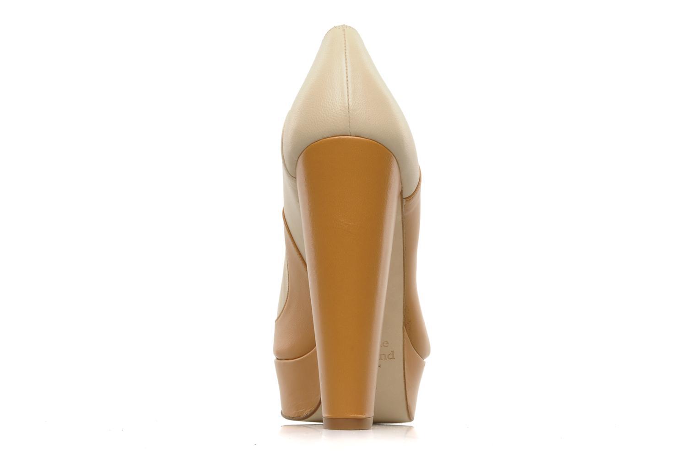 Zapatos de tacón Terry de Havilland Carina Beige vista lateral derecha