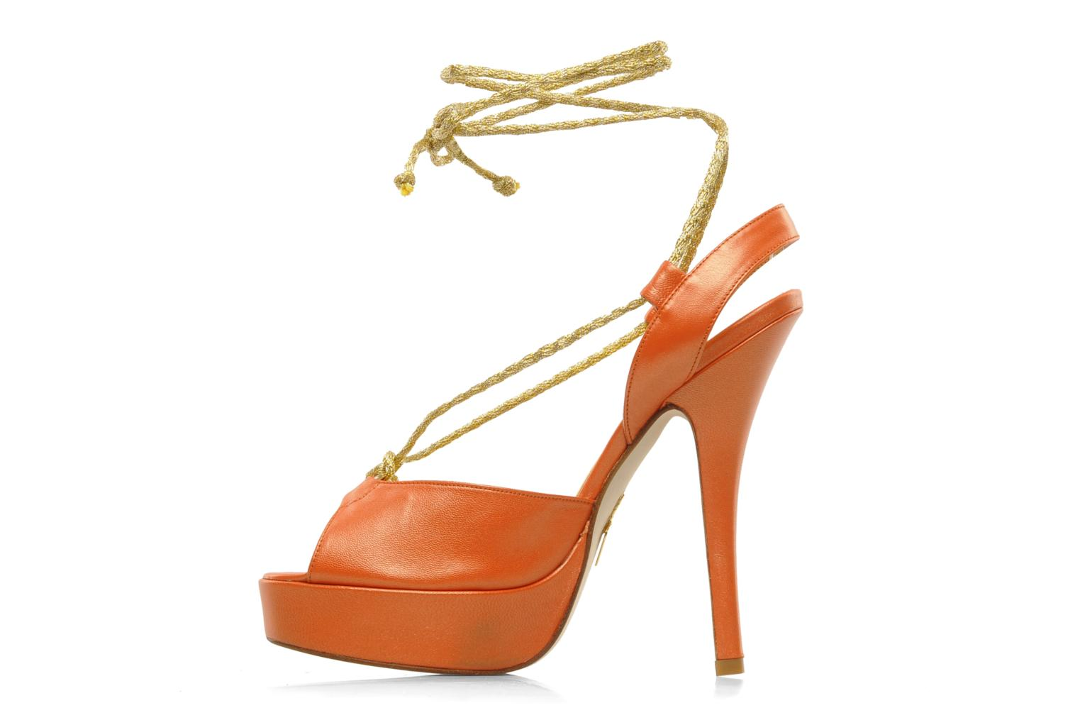 Sandales et nu-pieds Terry de Havilland Lisette Orange vue face