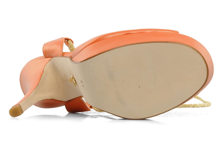 Sandales et nu-pieds Terry de Havilland Lisette Orange vue haut
