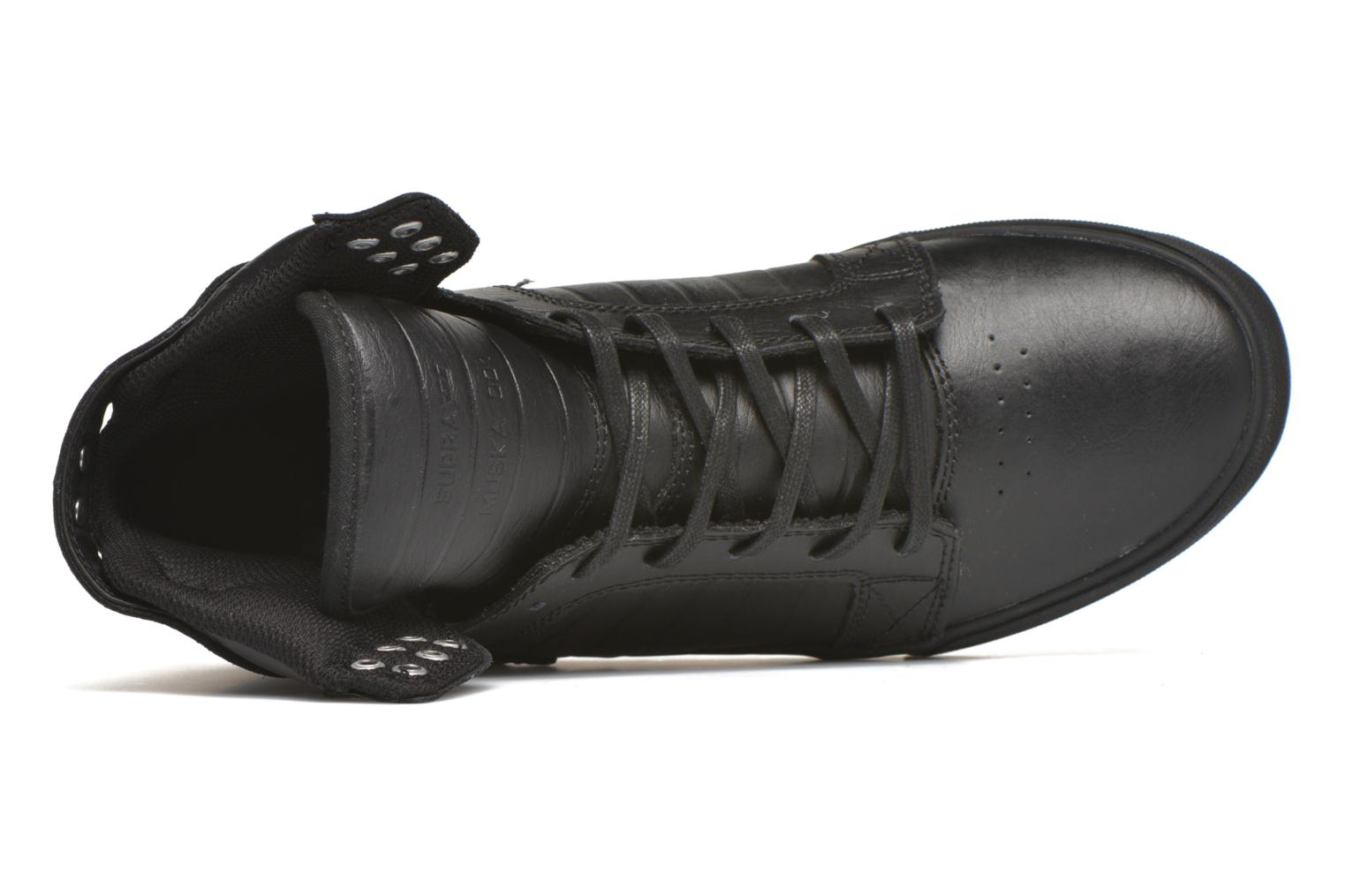 Trainers Supra Skytop Black view from the left