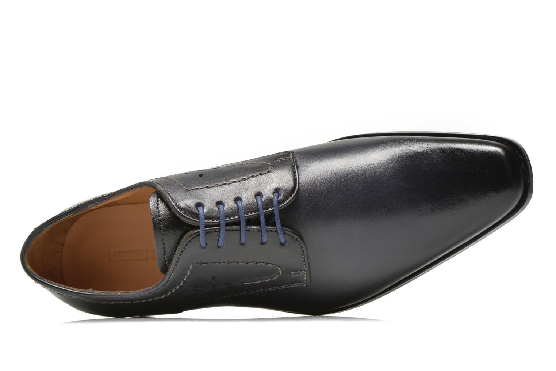 Zapatos con cordones Melvin & Hamilton Smith 2 Azul vista lateral izquierda
