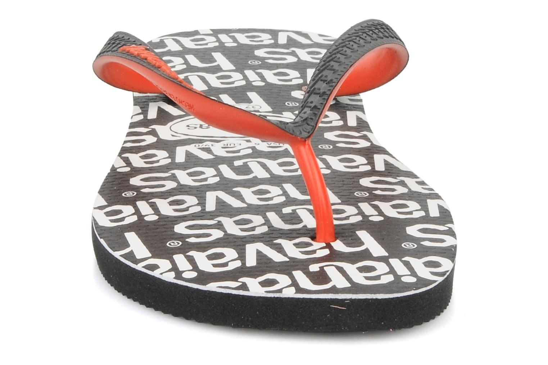 Tongs Havaianas Top Logo F Noir vue portées chaussures