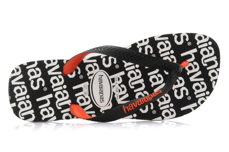 Slippers Havaianas Top Logo F Zwart links