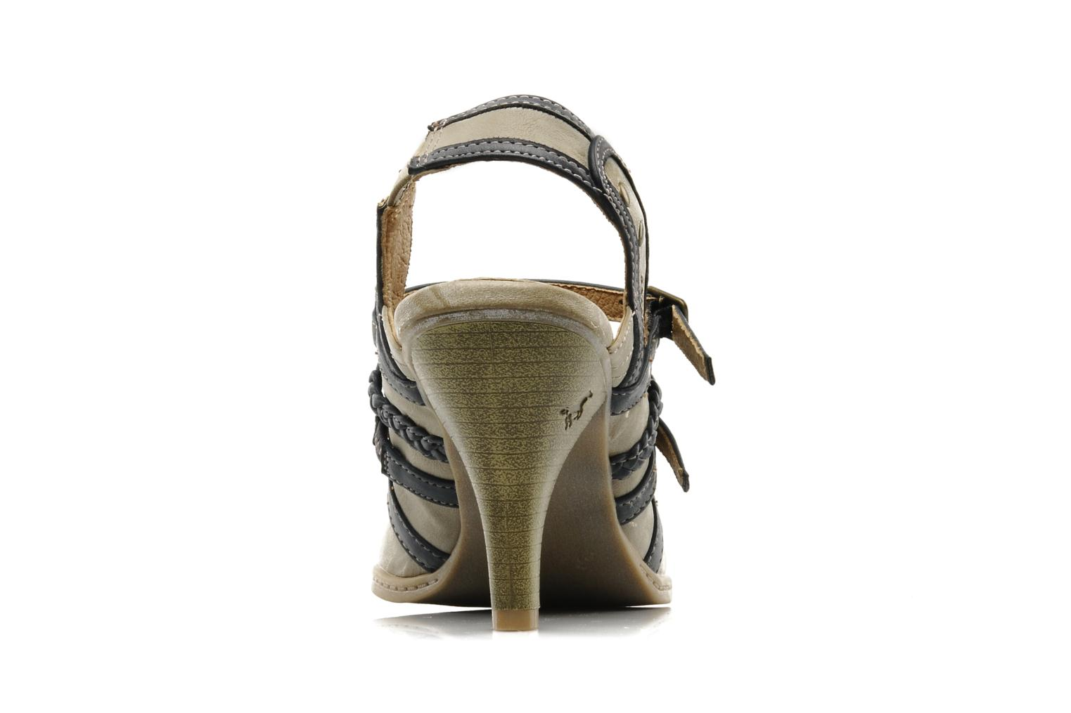 High heels Mustang shoes Myeline Beige view from the right