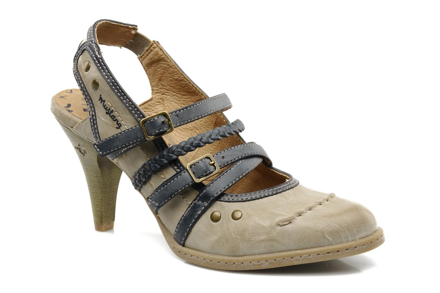 High heels Mustang shoes Myeline Beige detailed view/ Pair view