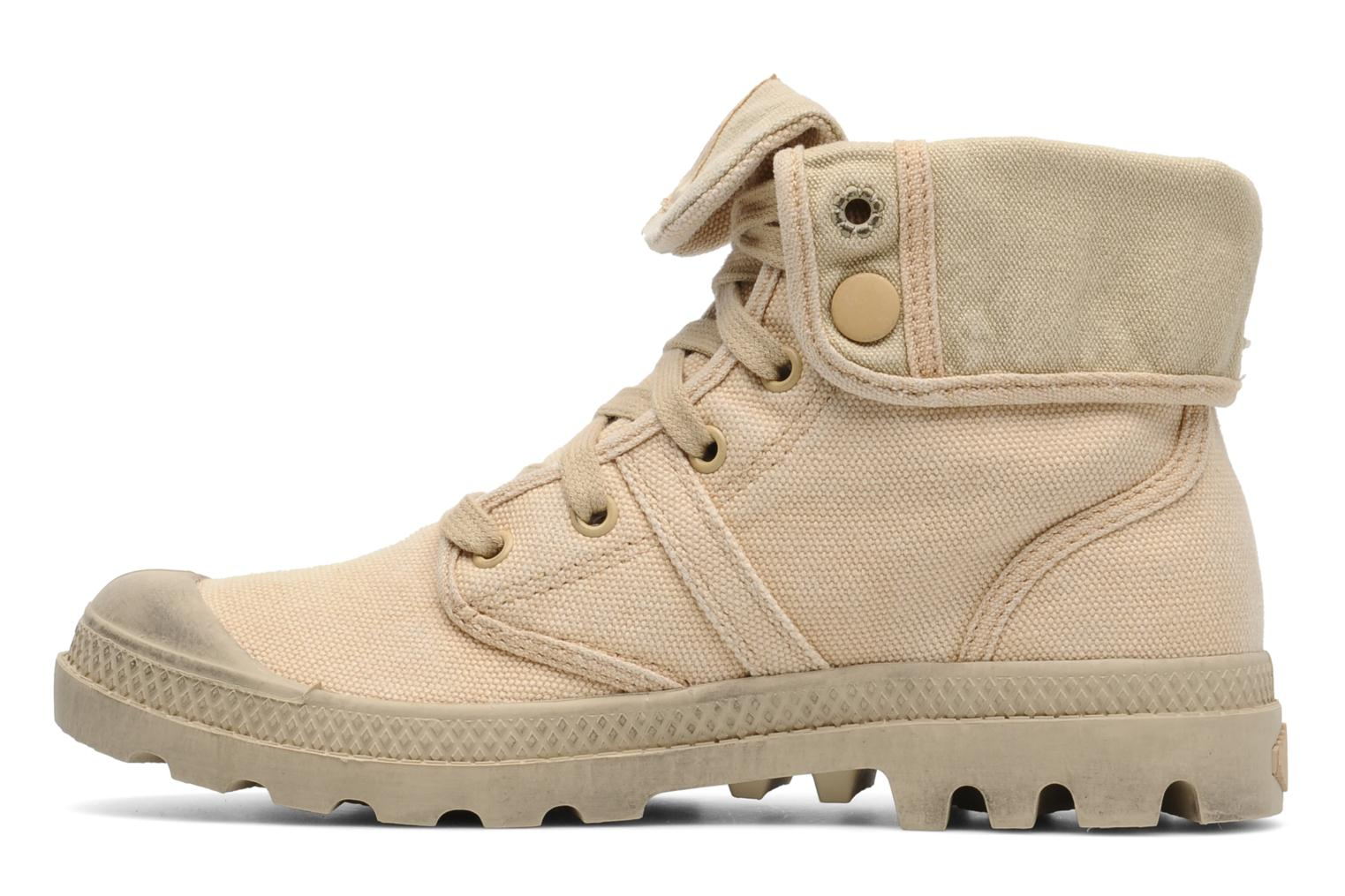 Trainers Palladium Us Baggy F Beige front view