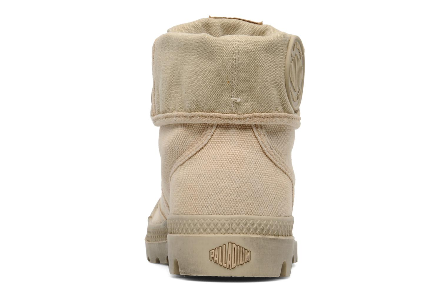 Trainers Palladium Us Baggy F Beige view from the right